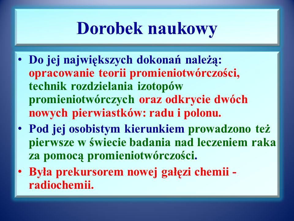 Rok 2011 Rokiem Marii Sk ł odowskiej-Curie 3 grudnia 2010 r. Sejm Rzeczypospolitej Polskiej przyj ął uchwa łę w sprawie ustanowienia roku 2011 Rokiem
