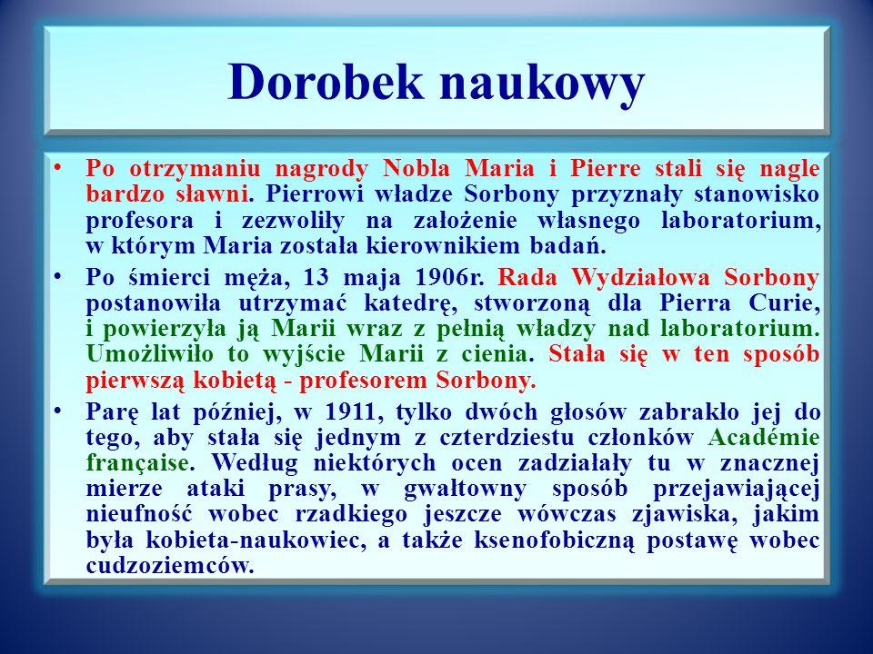 Badania prowadzące do odkrycia radu Małżonkowie Curie przypuszczali, że polon nie jest jedynym źródłem silnego promieniowania blendy uranowej.