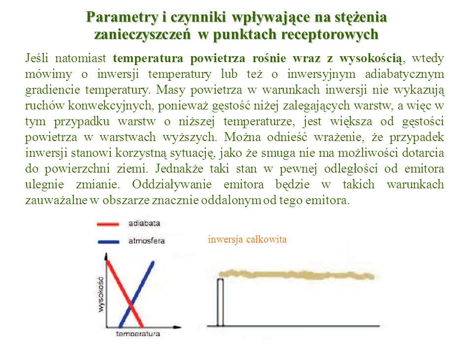 Jeśli natomiast temperatura powietrza rośnie wraz z wysokością, wtedy mówimy o inwersji temperatury lub też o inwersyjnym adiabatycznym gradiencie tem