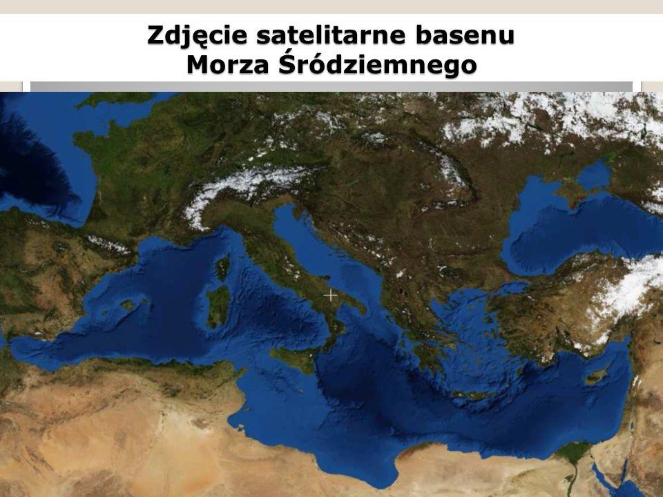 Zdjęcie satelitarne basenu Morza Śródziemnego