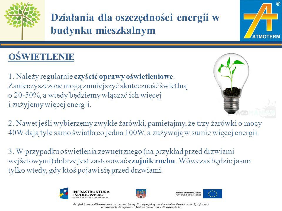 OŚWIETLENIE 1. Należy regularnie czyścić oprawy oświetleniowe.