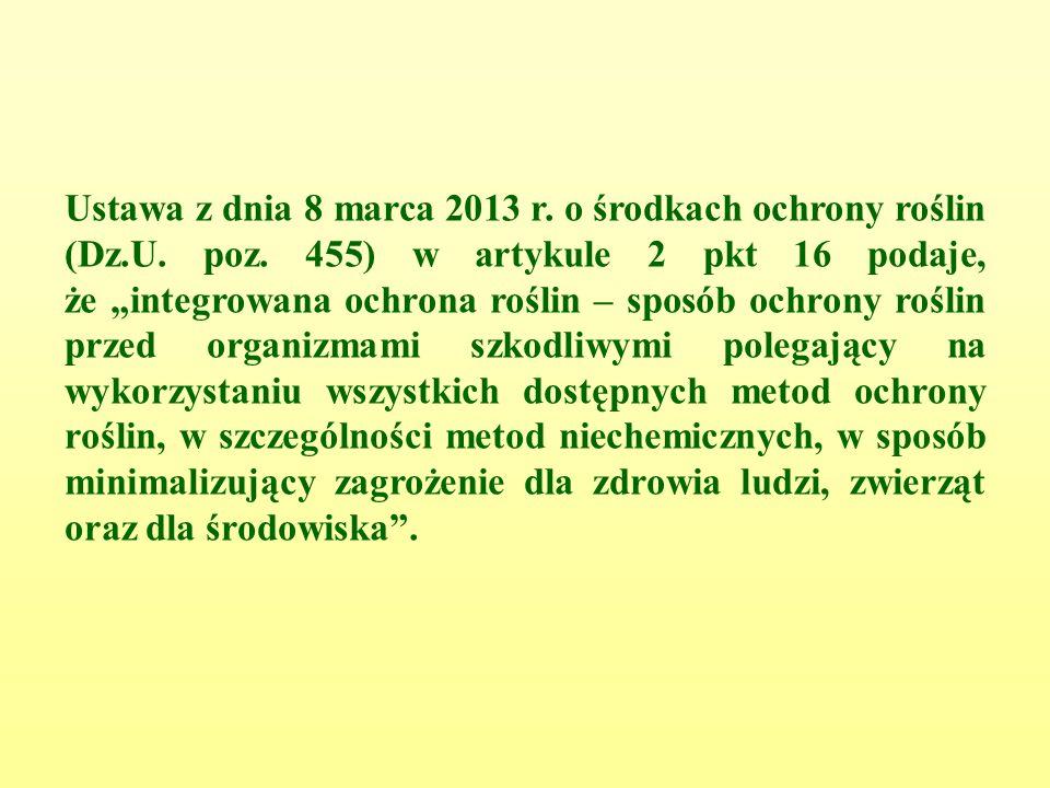 Ustawa z dnia 8 marca 2013 r. o środkach ochrony roślin (Dz.U.