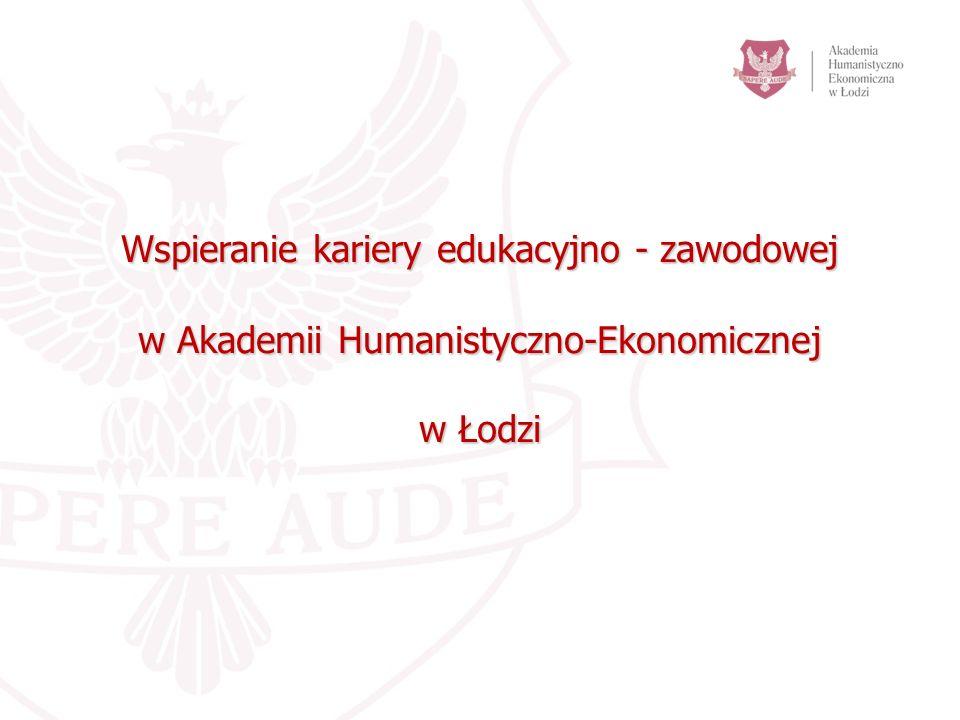 Wspieranie kariery edukacyjno - zawodowej w Akademii Humanistyczno-Ekonomicznej w Łodzi
