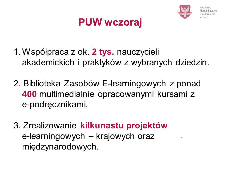1.Około 1500 studentów na platformie zdalnego nauczania – według danych MNISW największa e-learningowa uczelnia w Polsce.