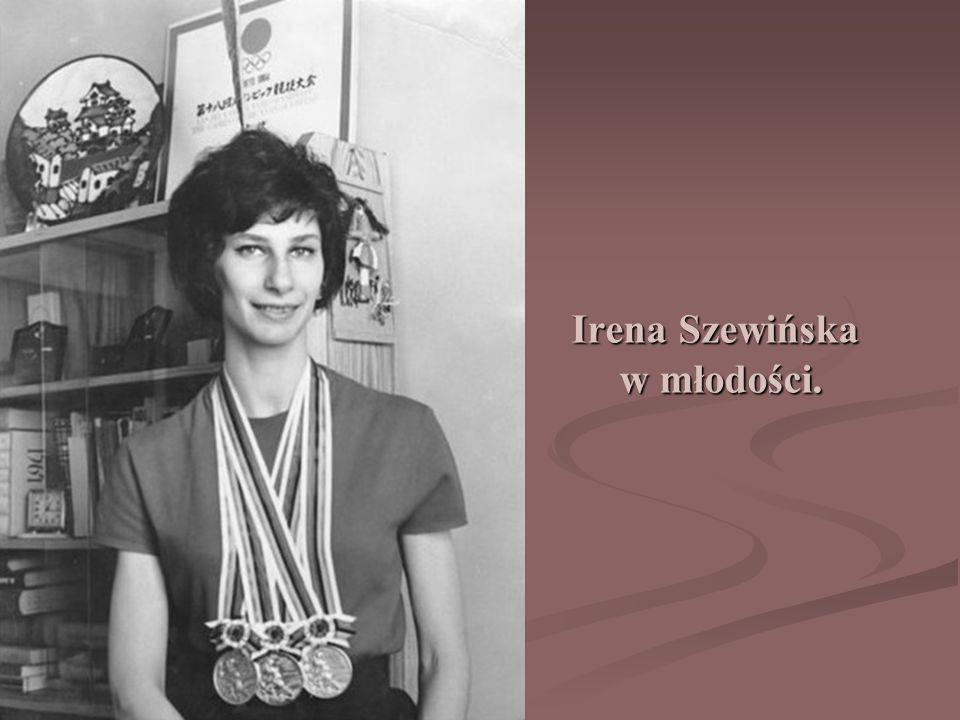 Irena Szewińska w młodości.