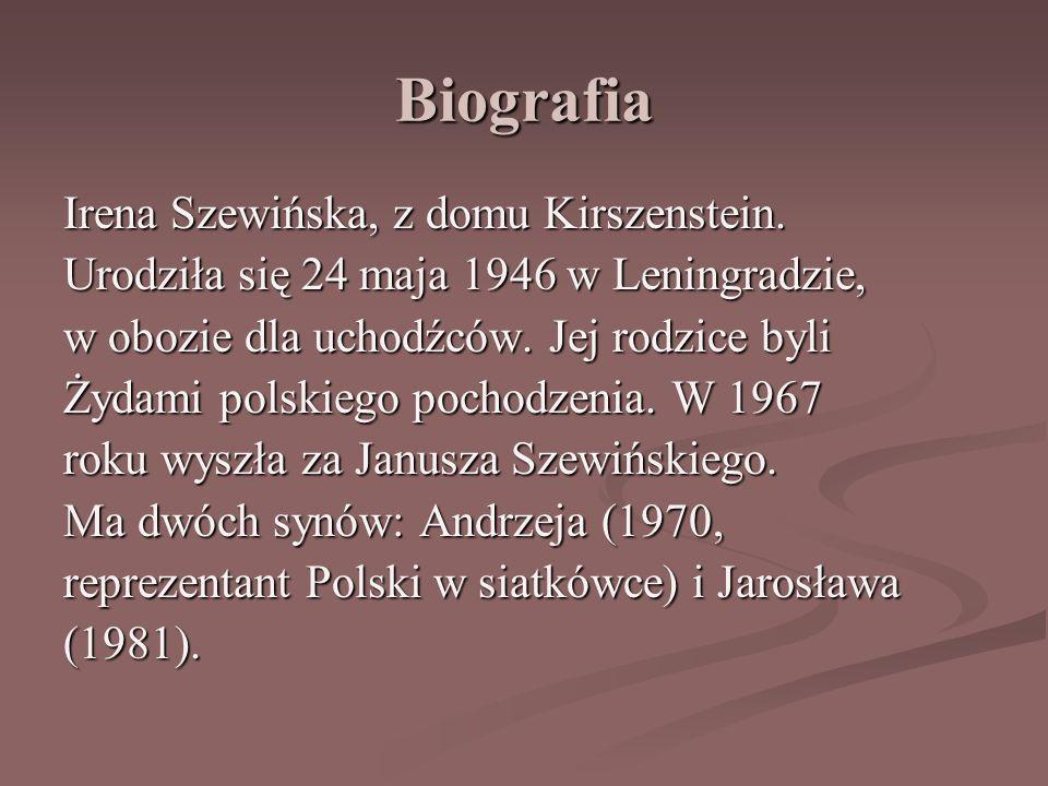 Biografia Irena Szewińska, z domu Kirszenstein.