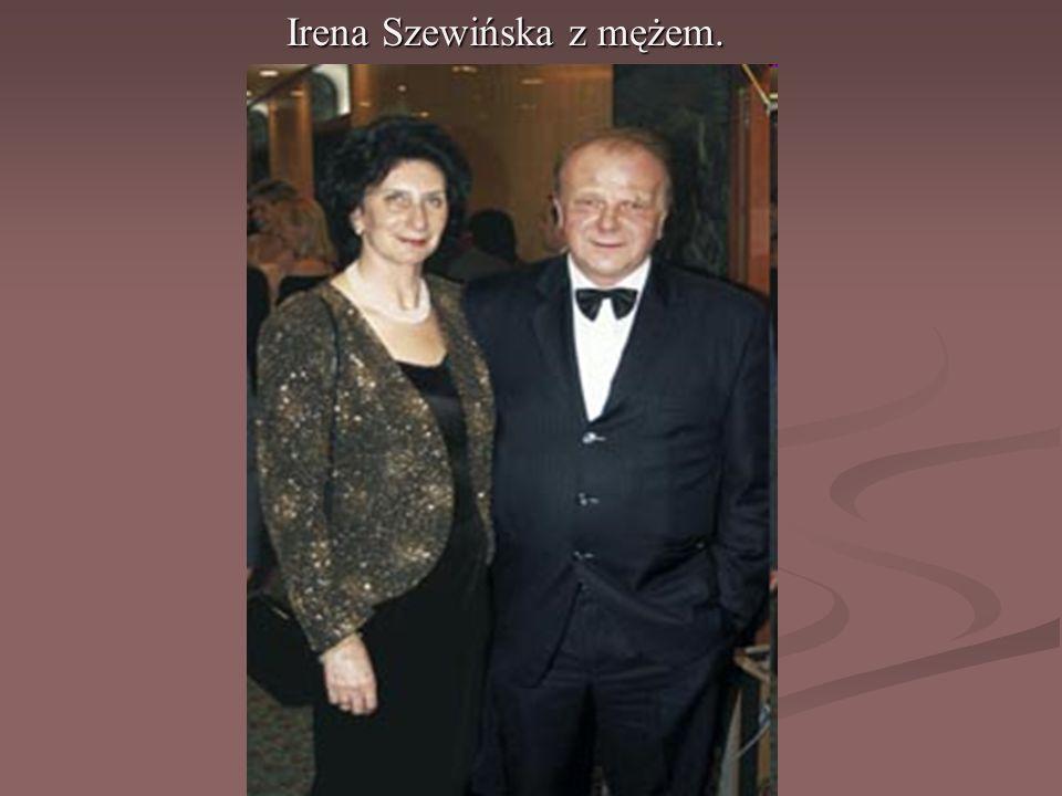 Irena Szewińska z mężem.