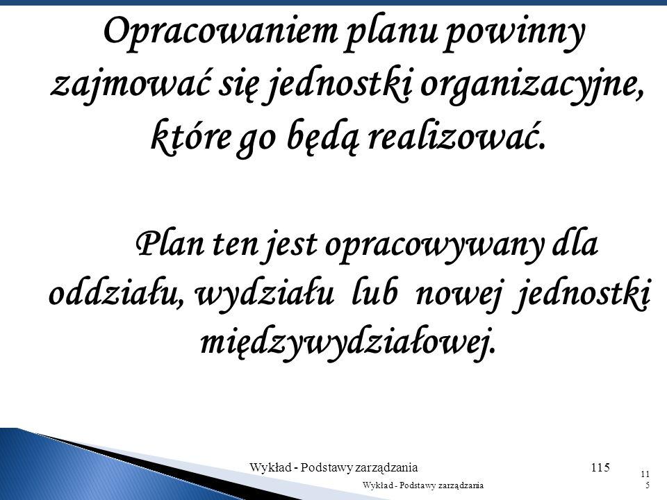 Plan taktyczny, zwany też planem operacyjnym, jest budowany na podstawie planu strategicznego. Ogólny plan taktyczny może obejmować okres pięcioletni,