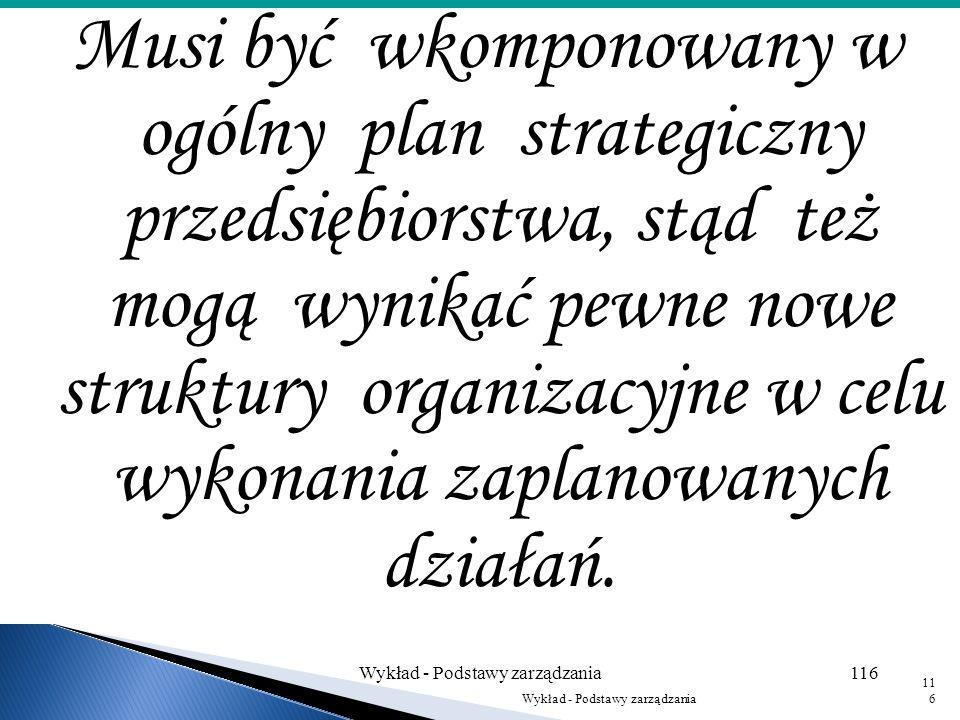 Opracowaniem planu powinny zajmować się jednostki organizacyjne, które go będą realizować. Plan ten jest opracowywany dla oddziału, wydziału lub nowej