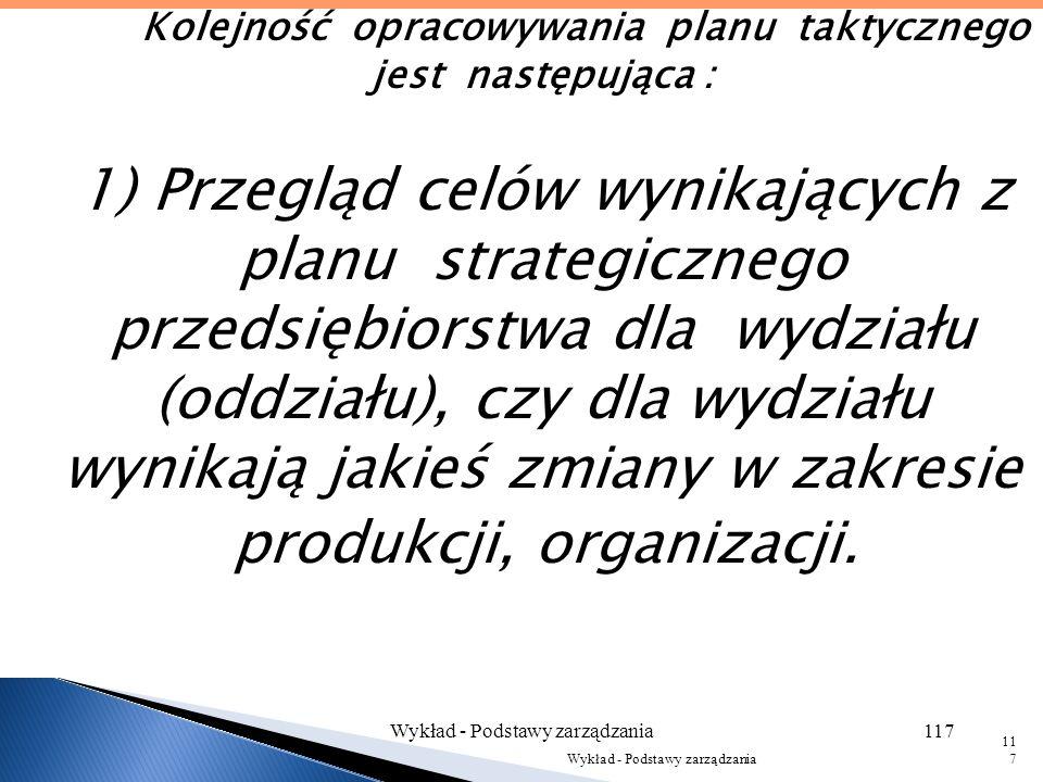 Musi być wkomponowany w ogólny plan strategiczny przedsiębiorstwa, stąd też mogą wynikać pewne nowe struktury organizacyjne w celu wykonania zaplanowa