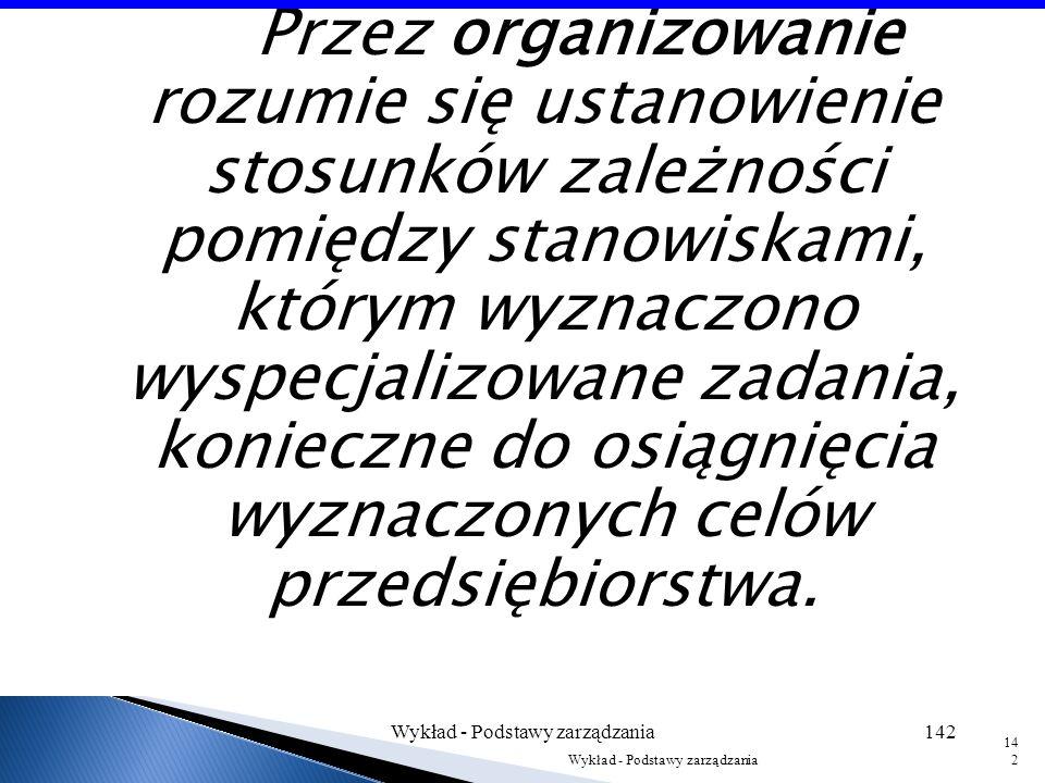 Wykład - Podstawy zarządzania141 141