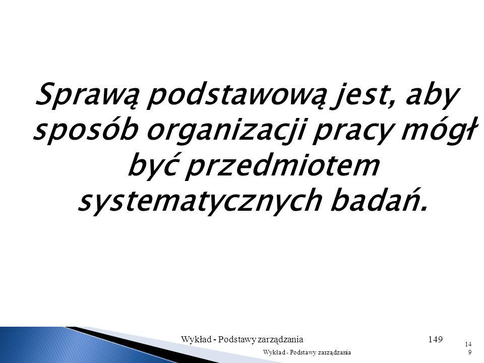 Wykład - Podstawy zarządzania148