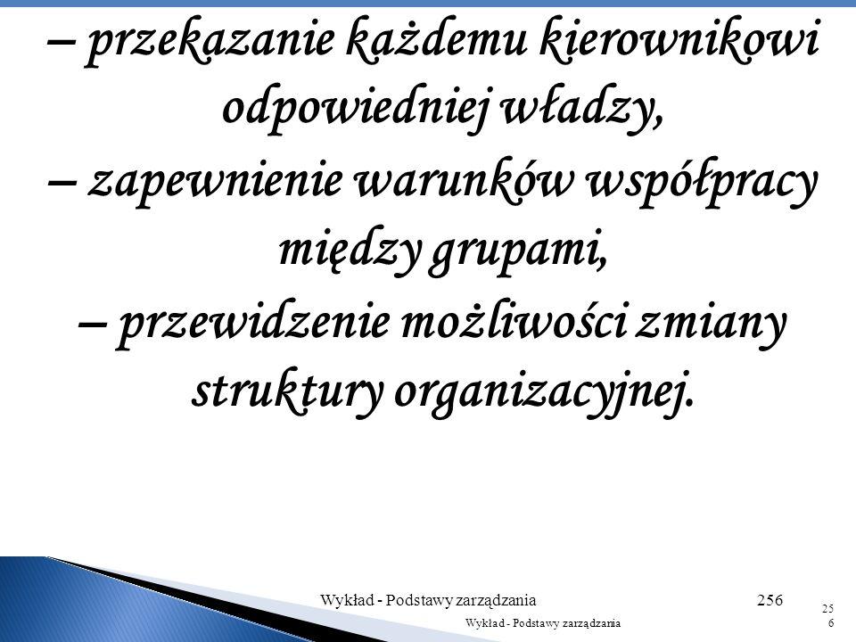 Osoba budująca system organizacyjny powinna uwzględnić następujące czynniki: – określenie działań niezbędnych do wykonania, – podzielenie tych zadań n