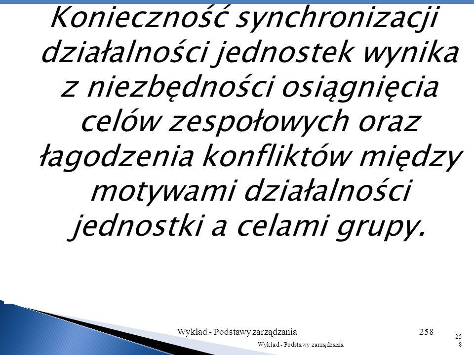 Wielu teoretyków zarządzania uznaje funkcję koordynacji za podstawową funkcję kierowniczą. Jest istotą zarządzania, ponieważ osiąganie zgodności indyw