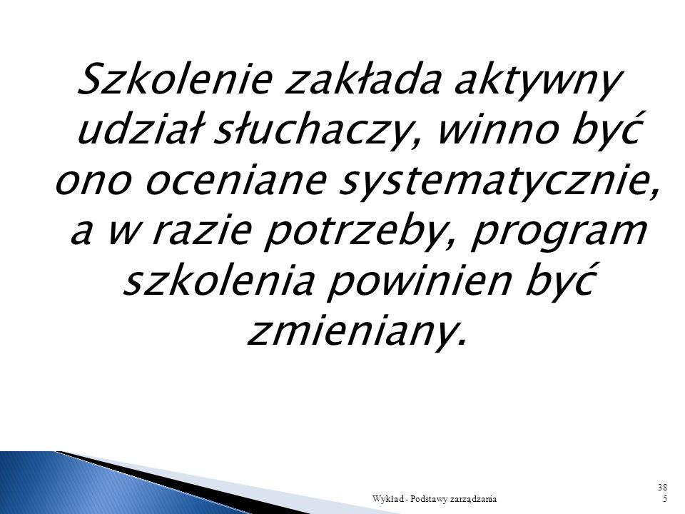 Wykład - Podstawy zarządzania384