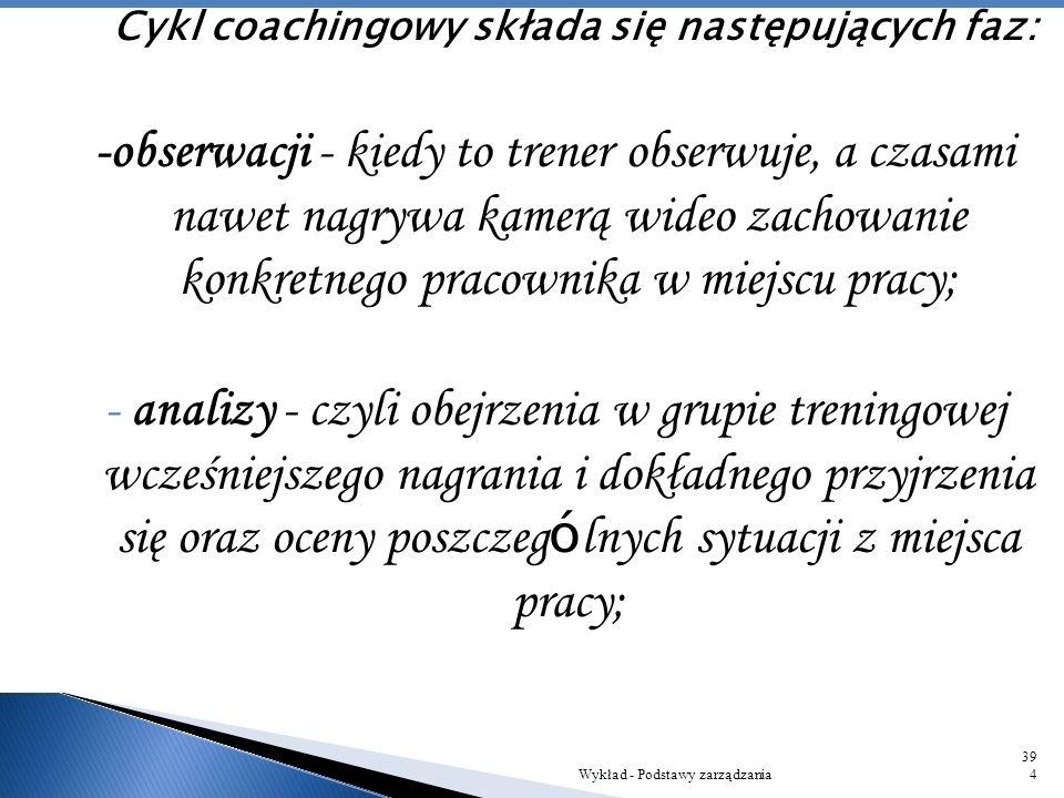 Dlatego coach to starannie wyselekcjonowana osoba, kt ó ra musi być odpowiednio przygotowana i charakteryzować się pewnymi cechami: - doskonałe umieję