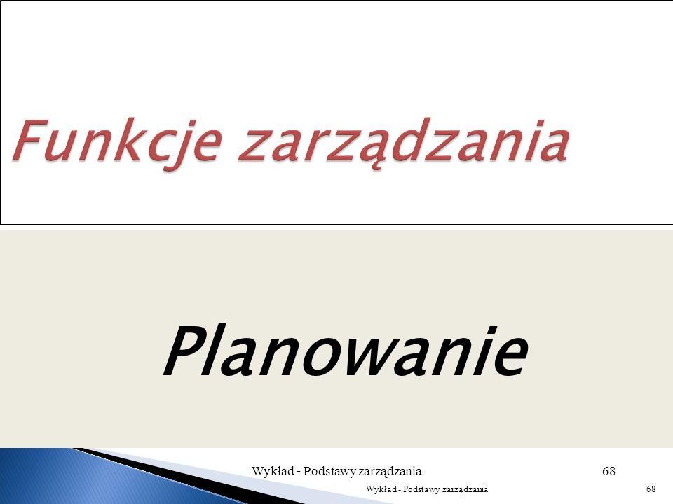 Wykład - Podstawy zarządzania67 Wykład - Podstawy zarządzania67