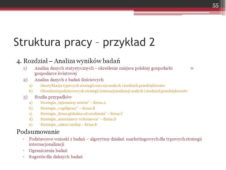 4. Rozdział – Analiza wyników badań 1)Analiza danych statystycznych – określenie miejsca polskiej gospodarki w gospodarce światowej 2)Analiza danych z