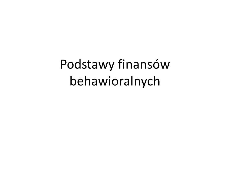 Inklinacje behawioralne Odstępstwa od racjonalności – inklinacje behawioralne przejawiają się w sferze opinii (heurystyki) i preferencji.