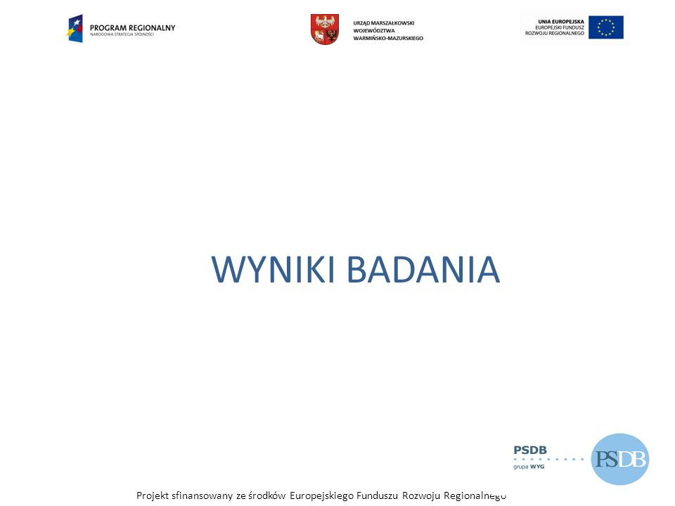 Projekt sfinansowany ze środków Europejskiego Funduszu Rozwoju Regionalnego Przedsiębiorczość