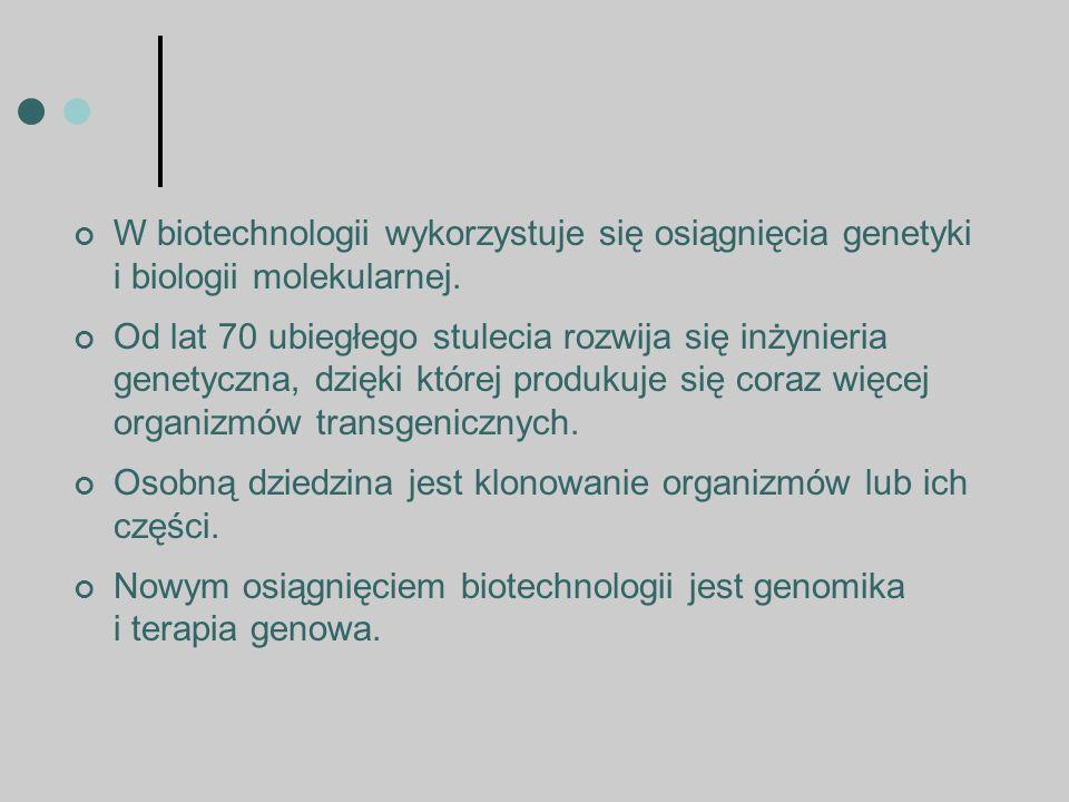 Początek inżynierii genetycznej : Na początku lat siedemdziesiątych ubiegłego wieku dwóch amerykańskich biologów, Stanley Cohen i Herbert Boyer, podjęli się, jak dotąd nierealnego zadania: po raz pierwszy przenieśli ludzki gen do bakterii, pokazując, że podstawowa instrukcja życia zapisana jest we wszystkich organizmach w tym samym języku.