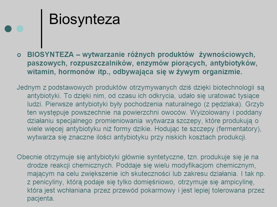 Biotransformacja Biotransformacja jest to przetwarzanie produktów z użyciem enzymów jako katalizatorów.