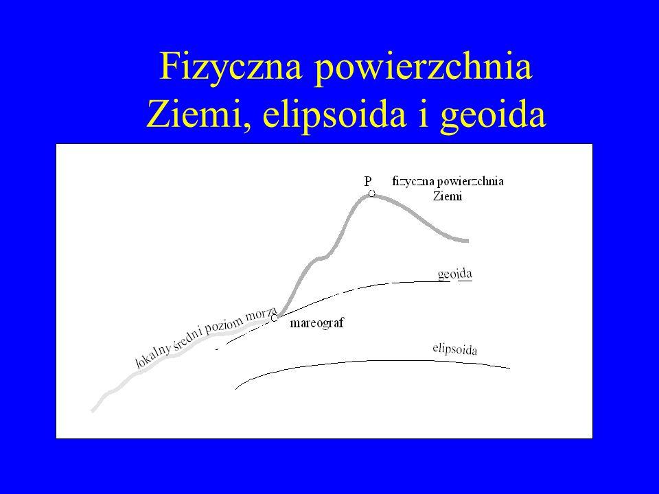 Fizyczna powierzchnia Ziemi, elipsoida i geoida
