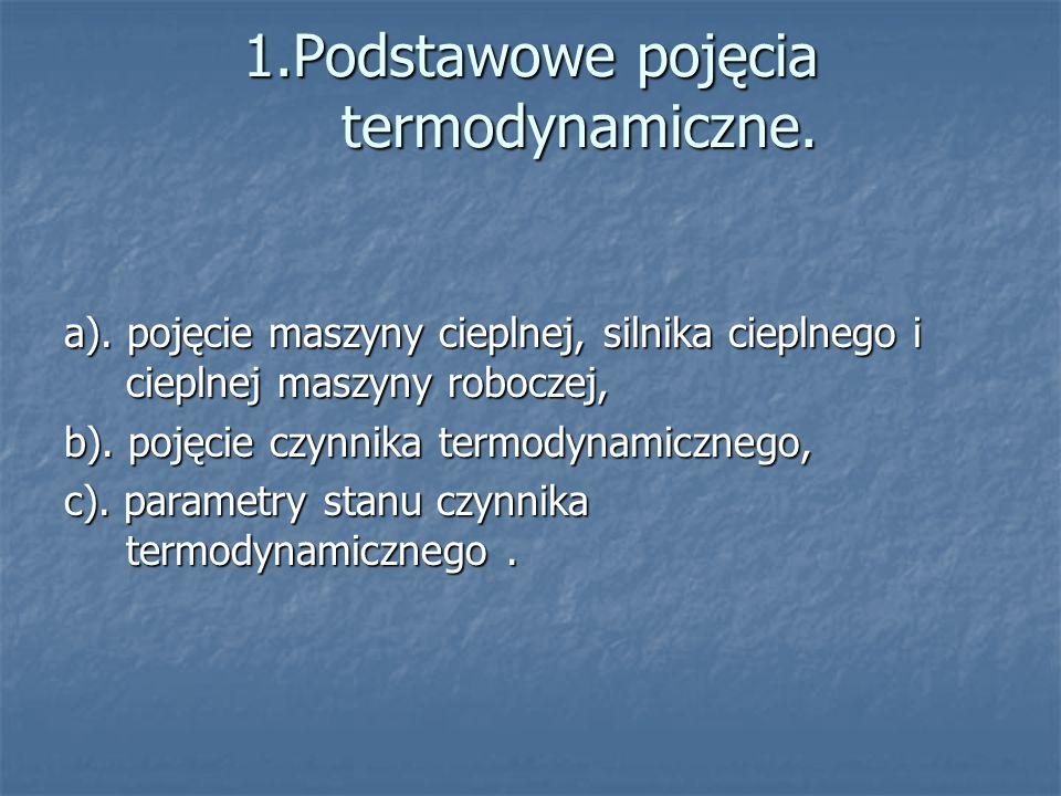1.Podstawowe pojęcia termodynamiczne.a).