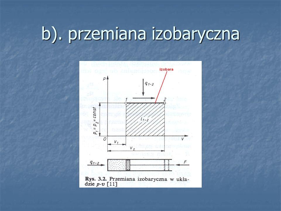 b). przemiana izobaryczna