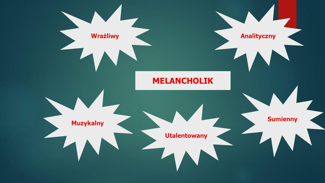 Muzykalny Analityczny Sumienny Utalentowany Wrażliwy MELANCHOLIK