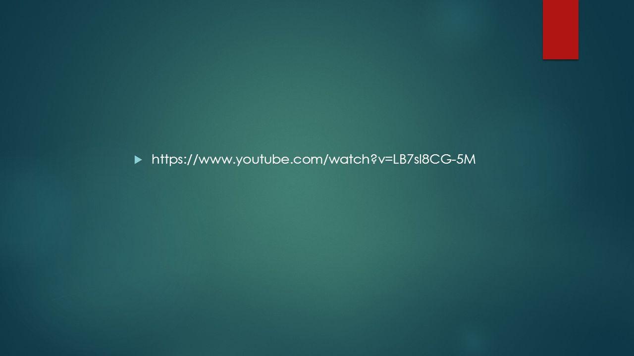  https://www.youtube.com/watch v=LB7sI8CG-5M