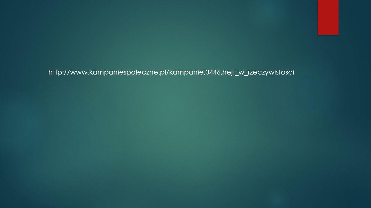 http://www.kampaniespoleczne.pl/kampanie,3446,hejt_w_rzeczywistosci
