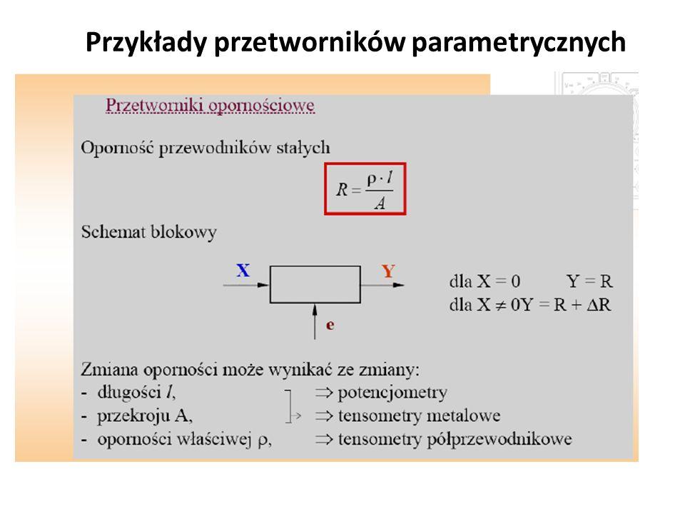 Przykłady przetworników parametrycznych
