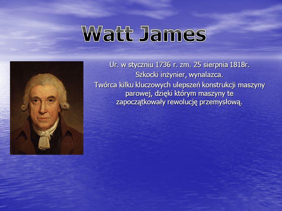 Ur. w styczniu 1736 r. zm. 25 sierpnia 1818r. Szkocki inżynier, wynalazca.