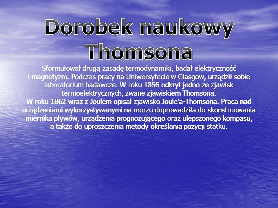 Sformułował drugą zasadę termodynamiki, badał elektryczność i magnetyzm.