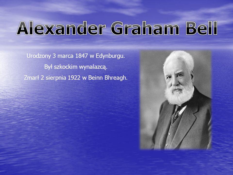 Urodzony 3 marca 1847 w Edynburgu. Był szkockim wynalazcą. Zmarł 2 sierpnia 1922 w Beinn Bhreagh.