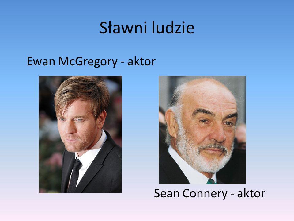 Sławni ludzie Ewan McGregory - aktor Sean Connery - aktor