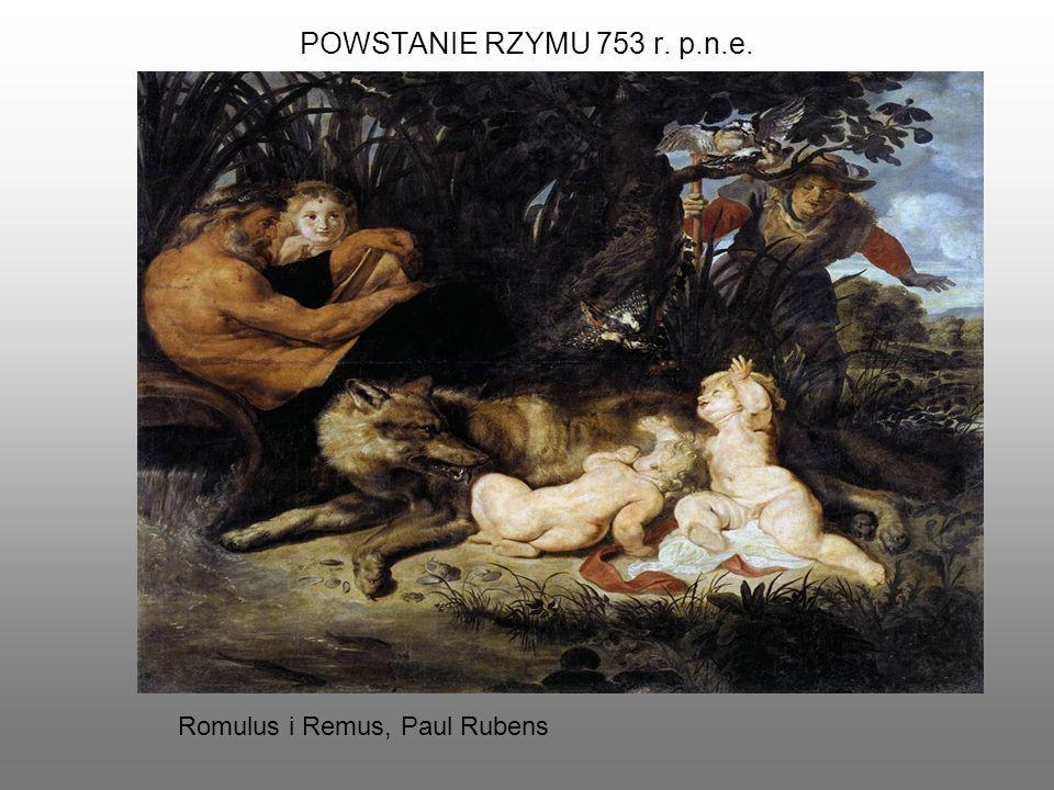 POWSTANIE RZYMU 753 r. p.n.e. Romulus i Remus, Paul Rubens