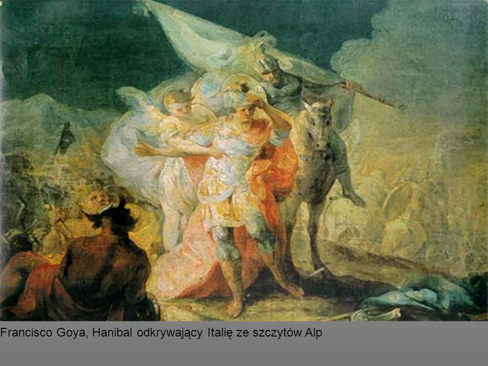 Francisco Goya, Hanibal odkrywający Italię ze szczytów Alp