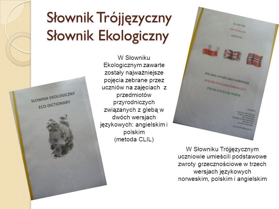 Słownik Trójjęzyczny Słownik Ekologiczny W Słowniku Ekologicznym zawarte zostały najważniejsze pojęcia zebrane przez uczniów na zajęciach z przedmiotó