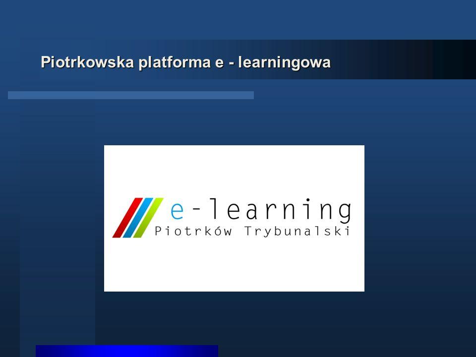 Piotrkowska platforma e - learningowa