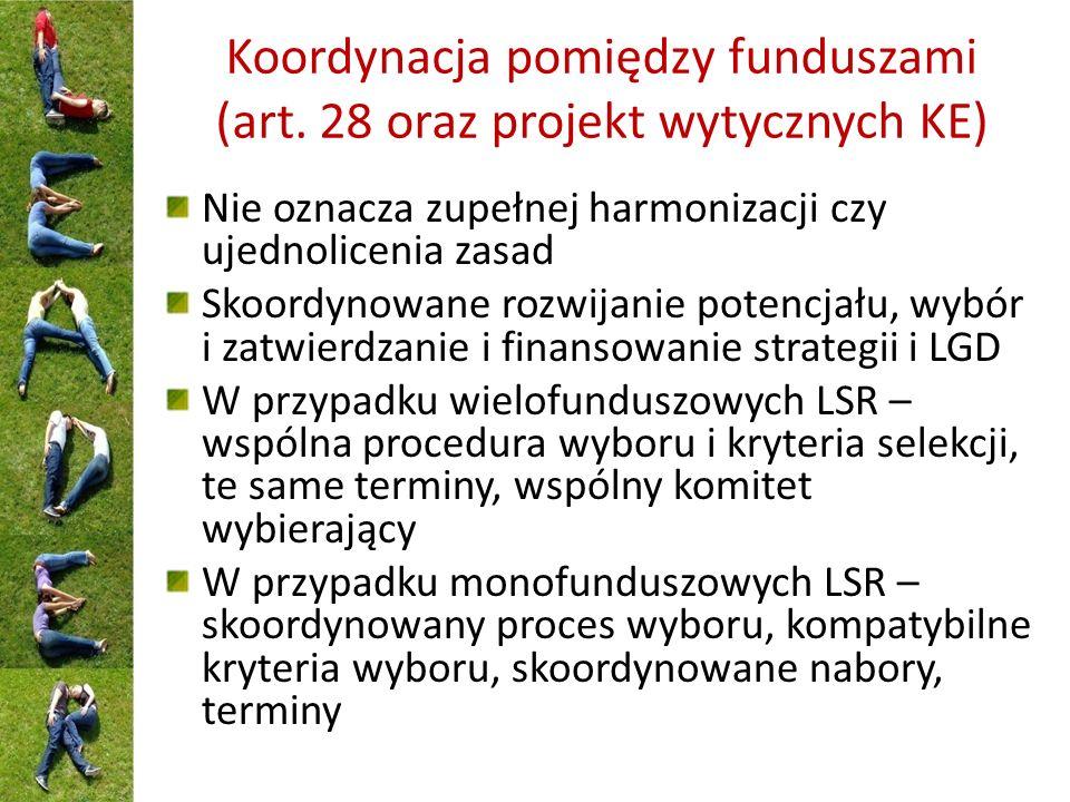 Koordynacja pomiędzy funduszami (art.