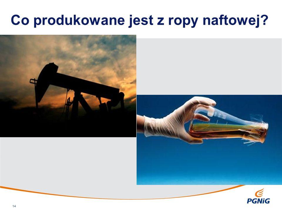 Co produkowane jest z ropy naftowej 14