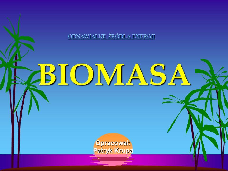 BIOMASA Opracował: Patryk Krupa ODNAWIALNE ŹRÓDŁA ENERGII http://www.krupers.info