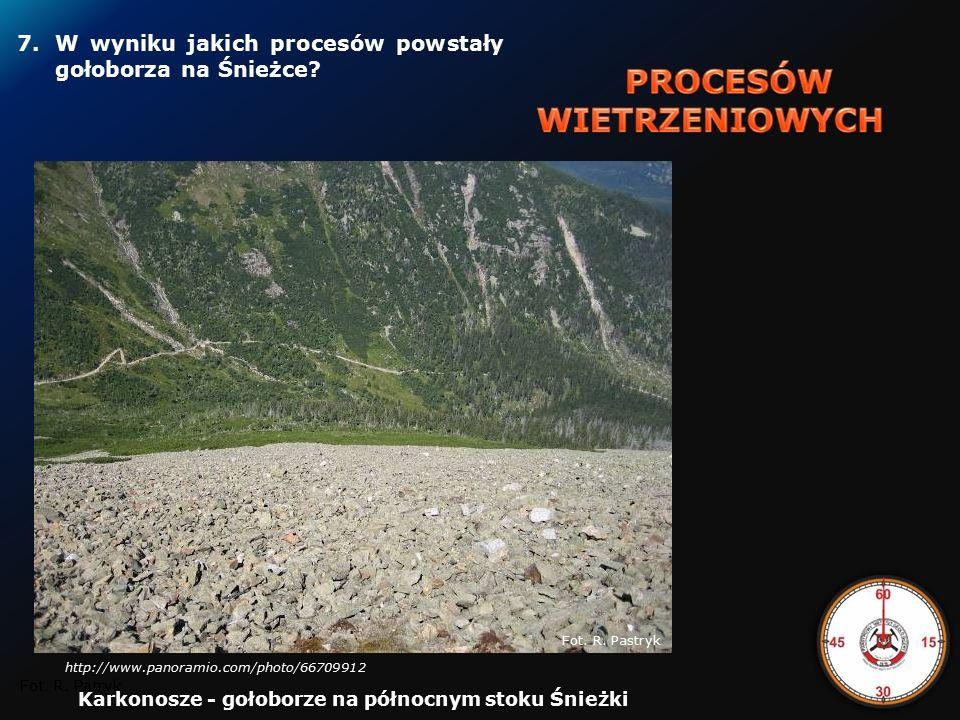 """6.W jakim okresie geologicznym powstały porfiry i melafiry """"Organów Wielisławskich w Sudetach."""