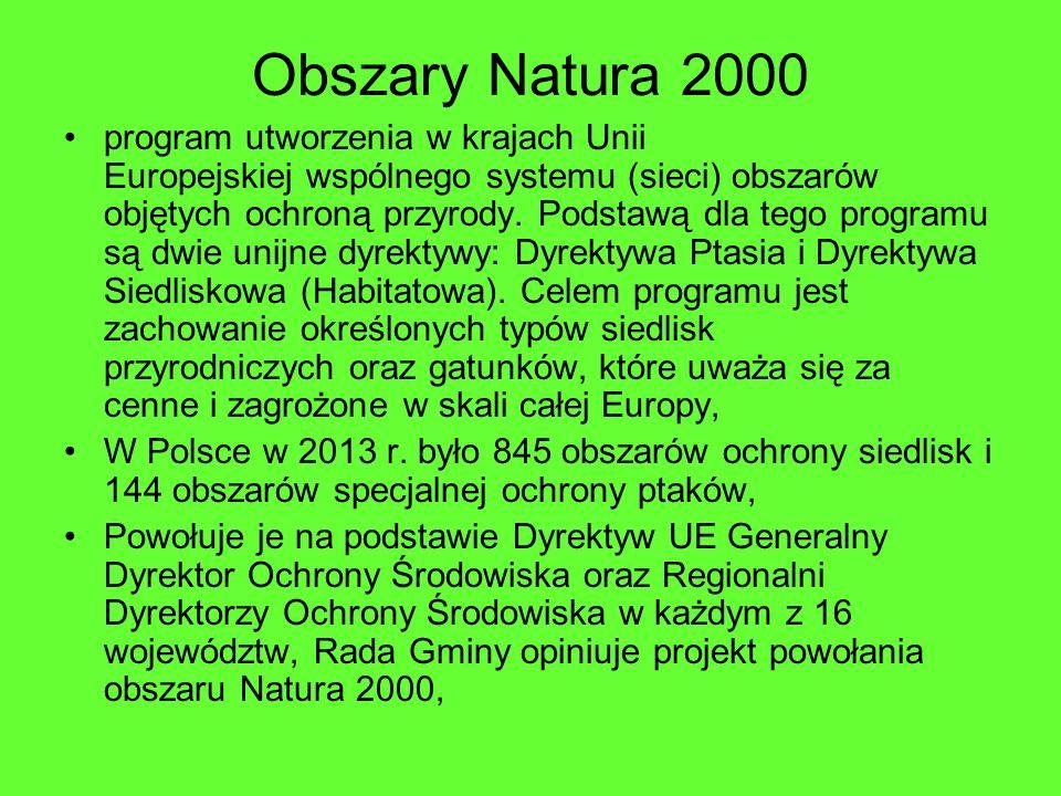 Obszary Natura 2000 program utworzenia w krajach Unii Europejskiej wspólnego systemu (sieci) obszarów objętych ochroną przyrody. Podstawą dla tego pro