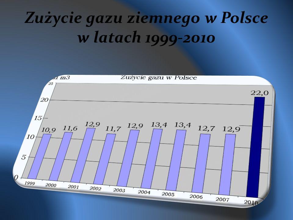 Zużycie gazu ziemnego w Polsce w latach 1999-2010