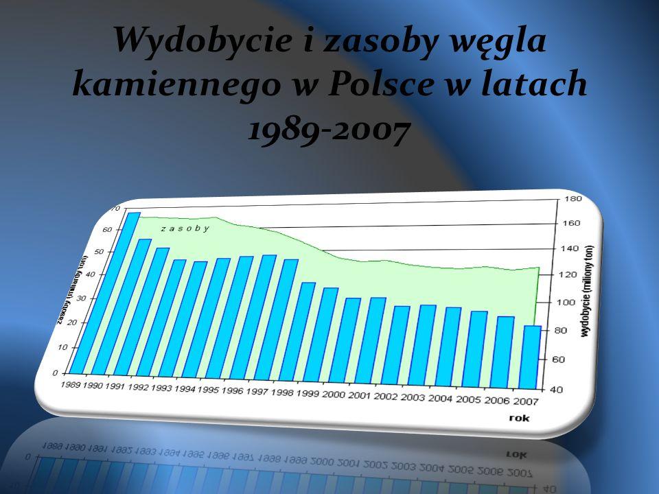 Wydobycie i zasoby węgla kamiennego w Polsce w latach 1989-2007