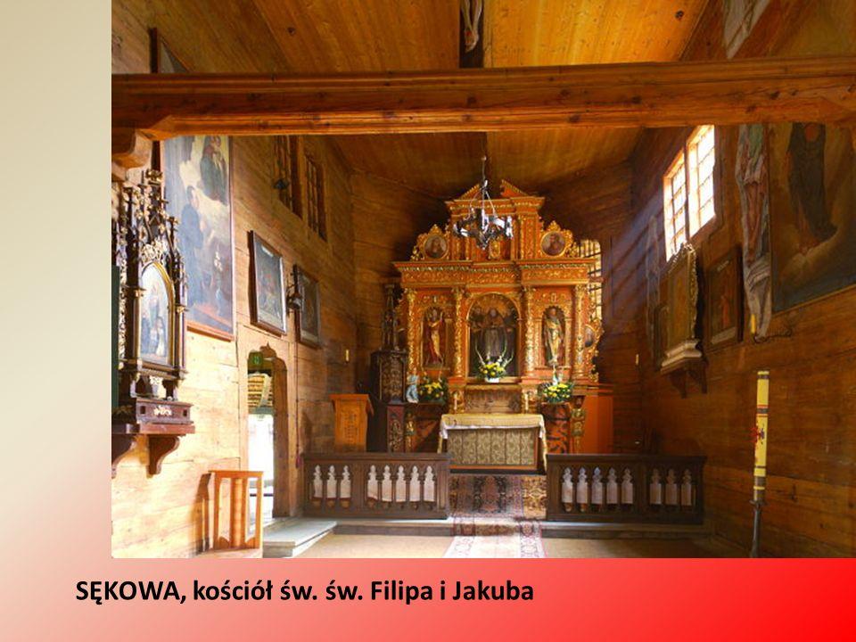 SĘKOWA, kościół św. św. Filipa i Jakuba