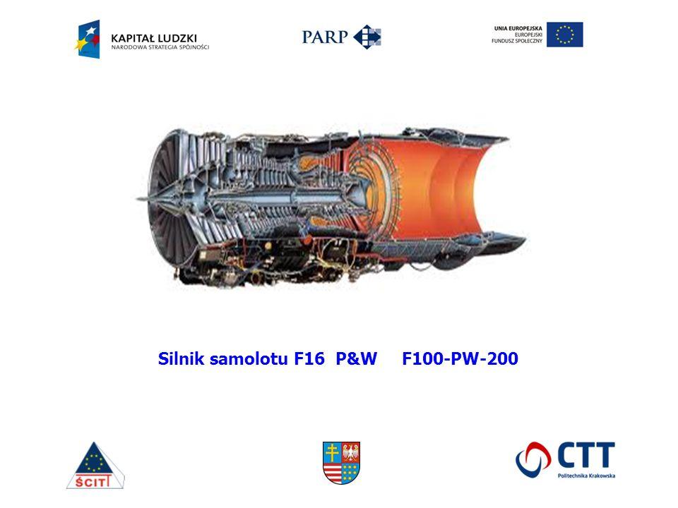 Silnik samolotu F16 P&W F100-PW-200